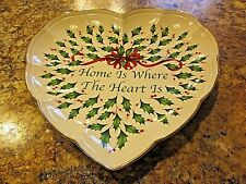 """Lenox Heart Plate/Dish """"Home is Where the Heart is"""""""