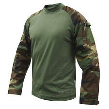 TRU-SPEC 2560 Woodland Olive Drab Combat Uniform Shirt - LARGE LONG Camo