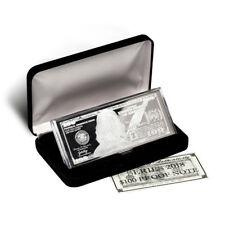 2018 - 4 oz.999 Fine Silver Bars- Proof $100 Franklin Bill in Case with COA
