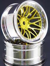 2ER PACK RC-CAR FELGEN 1:10 BBS STYLE IN CHROM/GOLD MIT 9MM OFFSET # FBBCG9