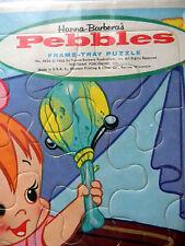 Vtg. Hanna-Barbera's Pebbles Frame-Tray Jigsaw Puzzle No. 4434 Whitman Usa 1963