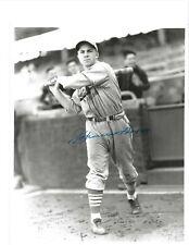 Johnny Hopp St Louis Cardinals Baseball Autographed 8x10 George Brace Photo