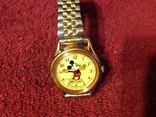 vintage mickey mouse watch lorus Pointed Gloves With Yellow Background