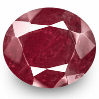 GRS Certified BURMA Ruby 11.51 Cts Natural Untreated Deep Magenta Red Oval
