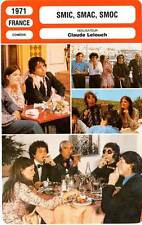 FICHE CINEMA : SMIC SMAC SMOC - Allégret,Amidou,Duguay,Lelouch 1971