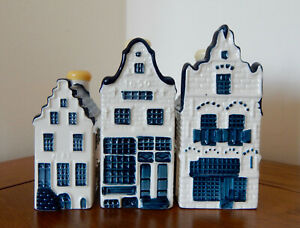 KLM Blue Delft Style Miniature Houses : Nr's 2-12-20 (See Pictures)