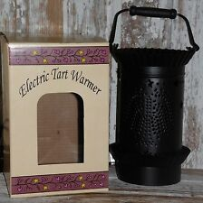 Black Punched Tin Electric Tart Warmer WILLOW Design New Primitive Country