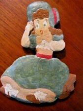 Vintage Little Bo Peep Chalkware Wallhanging