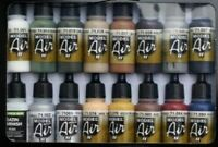16 VALLEJO MODEL AIR ACRYLIC AIRBRUSH PAINTS COLOURS SUITABLE FOR MODEL RAILWAYS