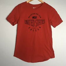 United States Soccer Nike Womens Red Athletic Cut Shirt Medium