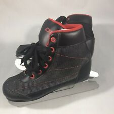 New listing Dbx Children's Black w/ Red Soft Boot Double Blade Ice Skates Size Boys 12K Used
