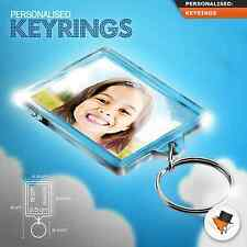 Personalised Your Kids Photo Keyring With Custom Gift Large size 50mmx35mm ?