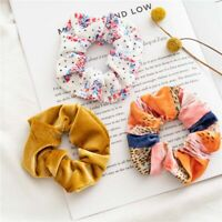 3Pcs/Set Elastic Velvet Scrunchies Rainbow Rubber Bands Tie-dye Hair Ropes Rings