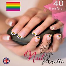 40  x Gay Pride Gr3 Nail Art Sticker Water Decals Transfer Stickers Tips
