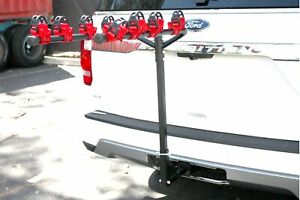 "Hitch mount 4 Bike Hitch Rack Mountain Bikes Tilt Fold Fits both 1-1/4"" & 2"""