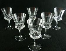 Rare Antique BACCARAT Flawless Crystal Set 6 x Wine Goblet w/ Deep Cut