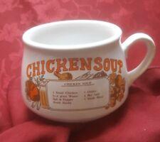 Vintage Retro Ceramic Soup Mug chicken Soup  Recipe Bowl free uk p&p