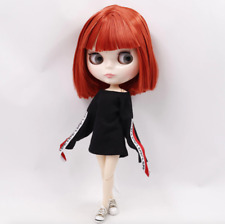 Blythe Doll 30cm Joint Body 1/6 BJD Changing Eye Color Bright Red Short Hair
