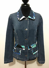 D&G DOLCE & GABBANA Giacca Giubbotto Jeans Donna Woman Denim Jacket Sz.M - 44