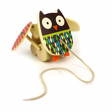Owl Toy Pull Along Skip Hop Treetop Friends Flapping Wooden Toddler 18 Months