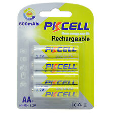 8 NiMh AA Batteries 600mAh 1.2V NIMH 2A Rechargeable Battery PKCELL - 8 count
