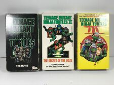 TMNT I II III 1 2 3 Trilogy VHS Lot (x3) CLEAN no mold