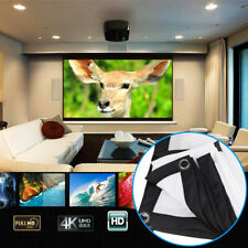 """60""""~120""""Projector Projection Screen Fabric Foldable 3D Hd Home Cinema Theater"""