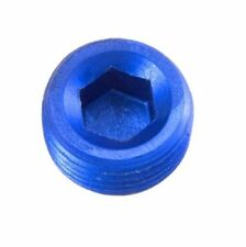 1/8 NPT hex head pipe plug blue 1/8""