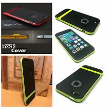 Apple iPhone 5 5S & SE Case Hybrid Flex Rigid Tech Rugged Green By Rugged Cover