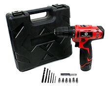 2 SPEED 12V Cordless Drill Electric Rechargeable Screwdriver Lithium Ion Battery