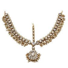 Jwellmart Indian Bridal Wedding Ethinc Gold Kundan Matha Patti / Maang Tikka