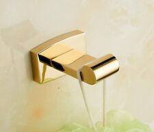 Brass Bathroom Wall Mount Hook Hanger Bath Towel Clothes Accessories Holder Gold