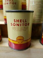 VINTAGE SHELL OIL SONITOR CORROSION INHIBITOR CAN- NOS-  SERVICE STATION