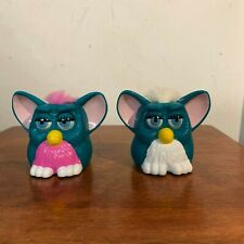 Vintage 1998 Furby Mcdonalds Toys Mohawk Eyes Blinking Teal Tiger Electronics
