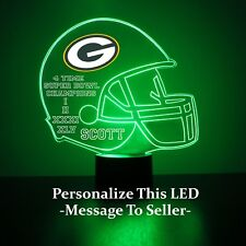 Greenbay Packers Night Light Lamp Personalized FREE NFL Football Light Up