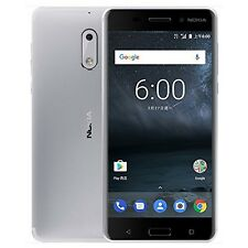 Nokia 6 32GB 4GB RAM Dual Sim 16MP Silver Smartphone GSM carriers only NEW