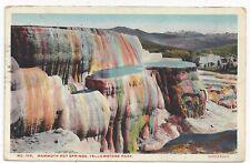 1920 Haynes Yellowstone National Park Postcard Mammoth Hot Springs DPO Cancel 50