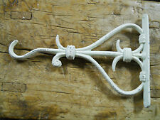 Cast Iron Victorian Style WHITE HEART Plant Hook Garden Hanger Wall Barn Fence