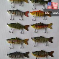 Multi Jointed Fishing Lures 10-pack lot brand new lifelike swimbait crankbait