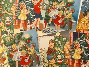 Vintage Christmas Retro Style Card Toppers, Gift Tags Make Your Own Cards Kitsch