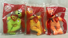 Lot Of 3 Ty Beanie Babies 2004 McDonald's Plush Toy Fries Happy Meal Golden Arch