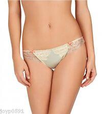 Heidi Klum AMORIE LARGE thong Vanilla Cream / Almost Aqua Satin Rrp $35