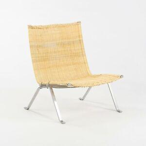 Poul Kjaerholm for E Kold Christensen Denmark PK22 Lounge Chair with New Wicker