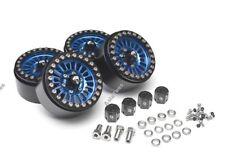 "Boom Racing Venomous Krait 1.9"" Aluminum Beadlock Wheel Blue (4) Rock Crawler"