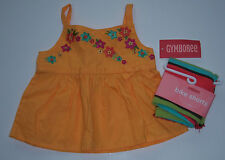 NWT Gymboree Jungle Gem 3-6 Months Embroidered Flower Swing Top & Bike Shorts