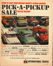 1965 Vintage ad for International Trucks`Pick-A-Pickup Sale`Red, Green, White