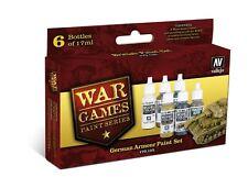 Vallejo 70155 tedesco Armour vernice acrilica Giochi di Guerra Set 6 x 17ml bottiglie di plastica