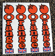 ORANGE Mountain Bike MTB Cycle FORK STACKED LOGO Decals Stickers