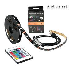 USB Mood LED Light Strip for TV, Entertainment Center, Programmable (2 M Long)