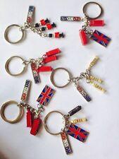 UNION JACK  6 KEYRINGS - ENGLAND SOUVENIRS KEYCHAIN, UJ LONDON KEY RINGS